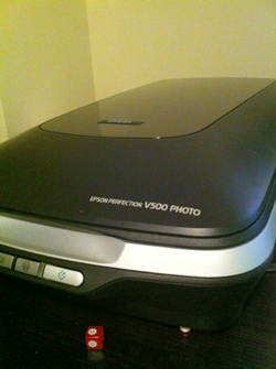 My Epson Perfection V500 scanner